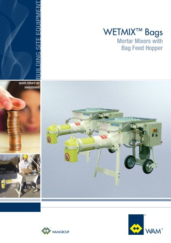 Mortar Mixer with Bags Feed Hopper WETMIX BAGS brochure