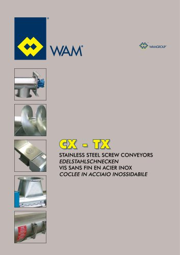 Stainless Steel Screw conveyors CX-TX Brochure