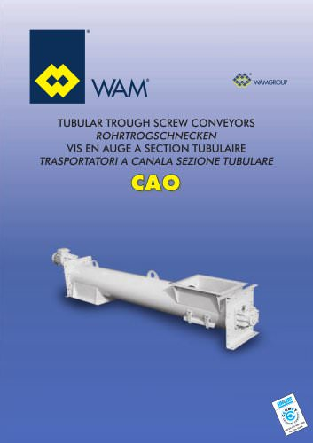 Tubular Trough Screw Conveyors CAO  Brochure