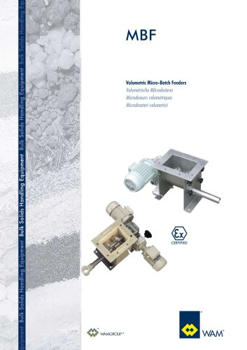 Volumetric Micro- Batch Feeders MBF  Brochure