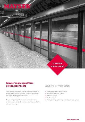 Platform screen doors flyer