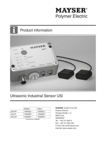 Ultrasonic Industrial Sensor