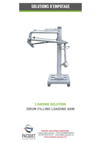 Drum filling loading arm