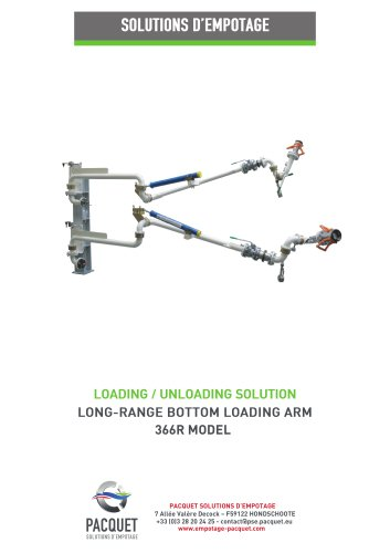 Long range bottom loading arm 366R model
