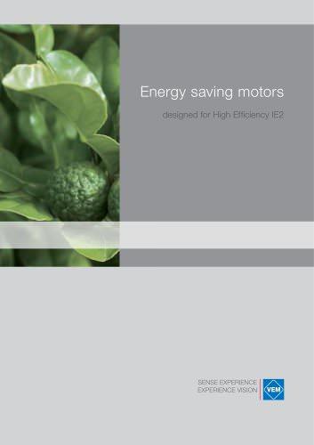 Energy saving motors, designed for High Efficiency IE2