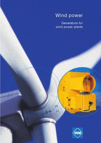 Wind power generators for wind power plants