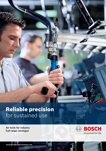 Air tools for industry Full-range catalogue