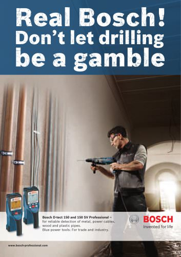 Bosch D-tect 150 and 150 SV Professional