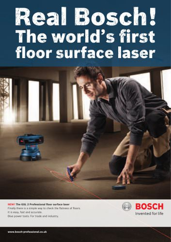 The GSL 2 Professional floor surface laser