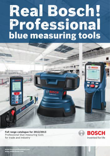 Professional blue measuring tools for trade and industry