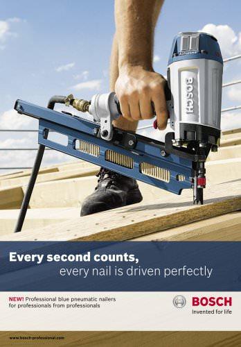 Professional blue pneumatic nailers