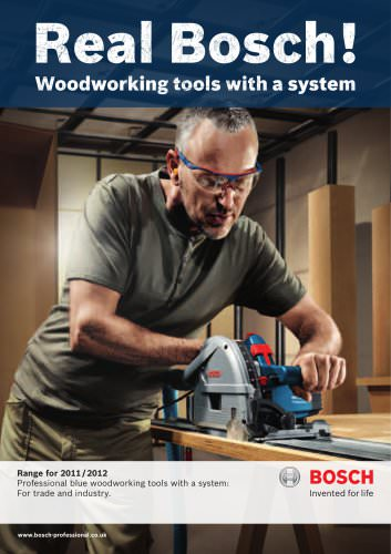 Professional blue woodworking tools with a system