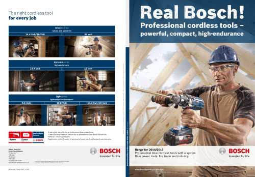 Professional cordless tools – powerful, compact, high-endurance