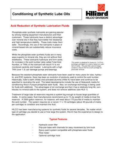 Conditioning of Synthetic Lube Oils