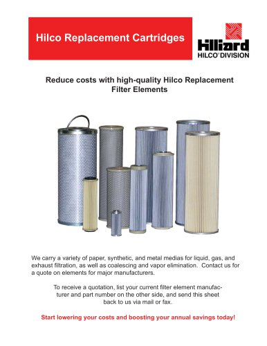 Hilco Replacement Cartridges