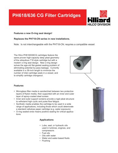 PH618 636 CG Filter Cartridge