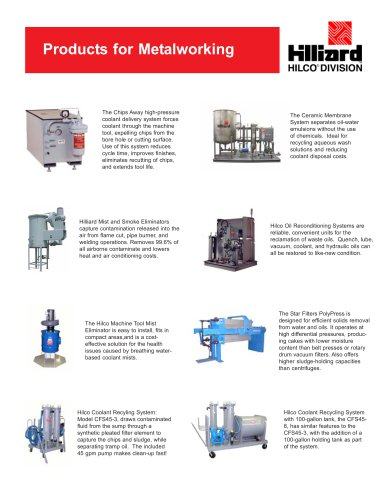 Products For Metalworking