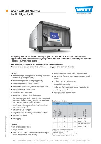 GAS ANALYSER MAPY LE