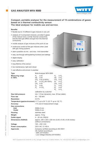GAS ANALYSER MFA 9000