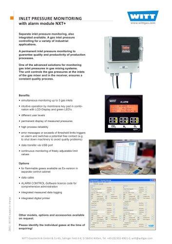 Inlet Pressure Monitoring