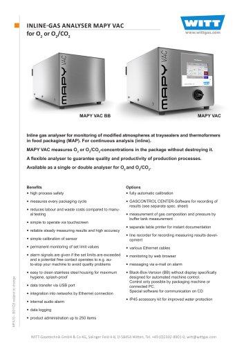 INLINE-GAS ANALYSER MAPY VAC