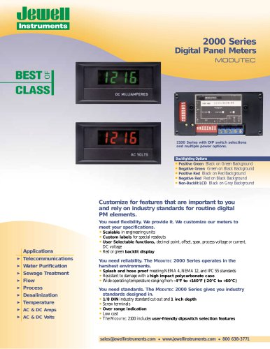 2000 Series Digital Panel Meters