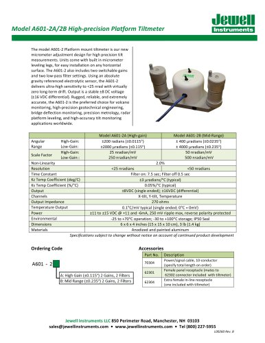 A601-2 Electrolytic Tiltmeter