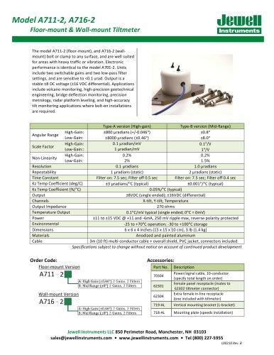 A711-2 A716-2 Tiltmeter Datasheet