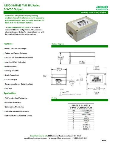A850-S MEMS Tuff Tilt Datasheet