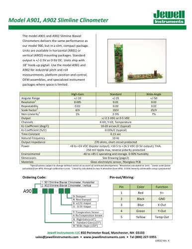 A901-2 Clinometer Datasheet