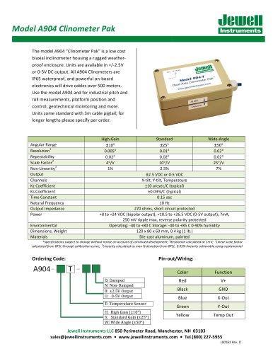 A904 Clinometer Pak Datasheet