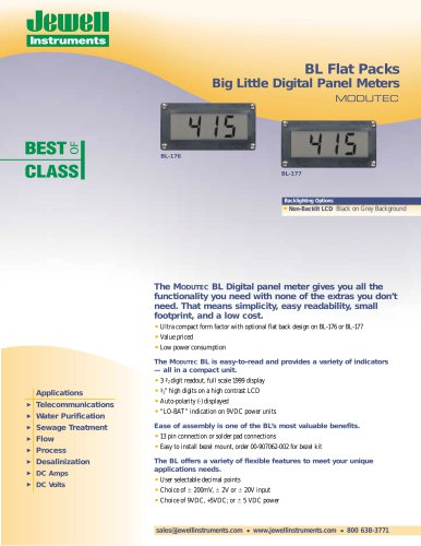 BL Flat Packs Big Little Digital Panel Meters