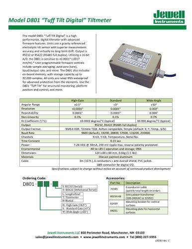 D801 Tuff Tilt Digital Datasheet