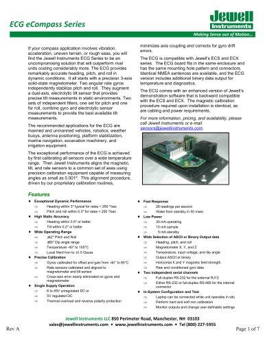 ECG eCompass Datasheet