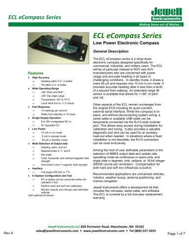 ECL eCompass Datasheet