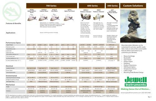 Extreme Precision Geophysical Tiltmeter Selector Guide