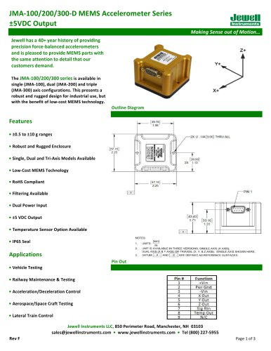 JMA-100/200/300-D Datasheet