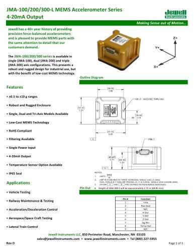 JMA-100/200/300-L 4-20mA Output Datasheet