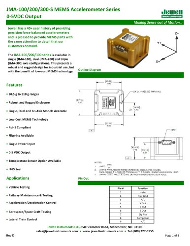 JMA-100/200/300-S Datasheet