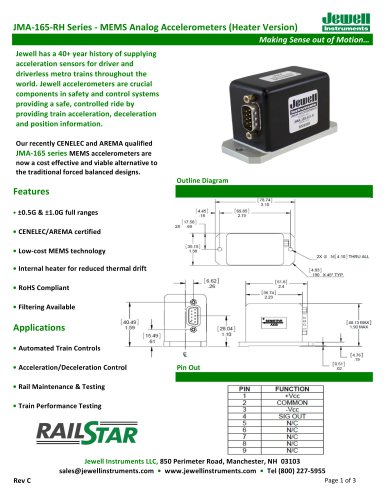 JMA-165 Series (Heater) Datasheet