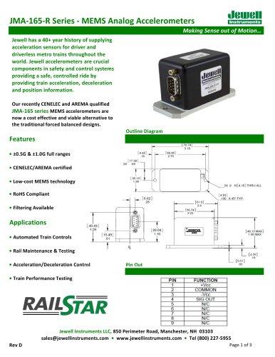 JMA-165 Series (Non-Heater) Datasheet