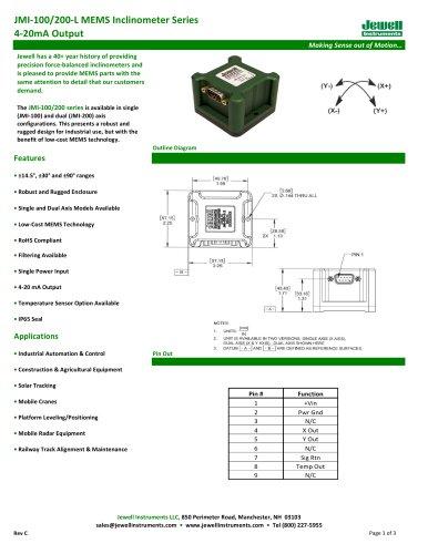 JMI-100/200-L 4-20mA Output Datasheet