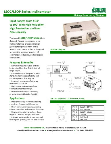 LSO Inclinometer Datasheet