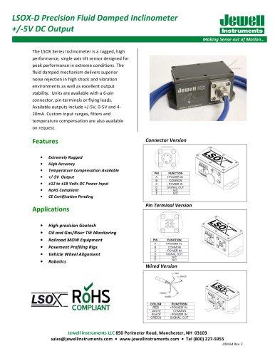 LSOX-D, +/-5 VDC Output