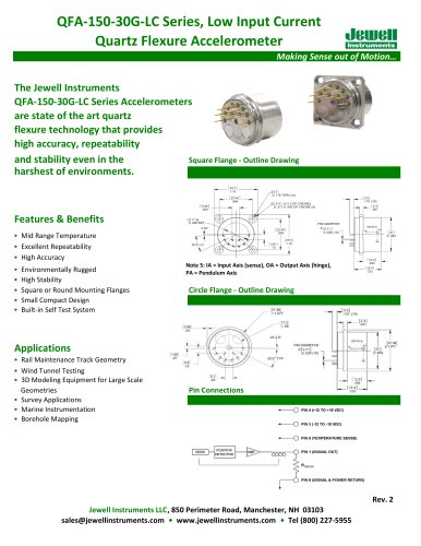 QFA-150 Low Input Current Quartz Accelerometer