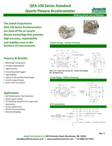 QFA-150 Quartz Flexure Accelerometer