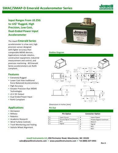 SMA Emerald Accelerometer Series