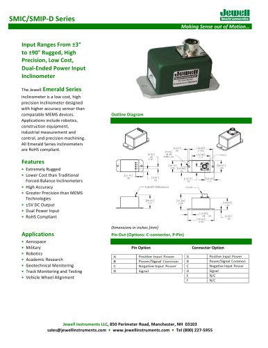 SMI-D Inclinometer Datasheet