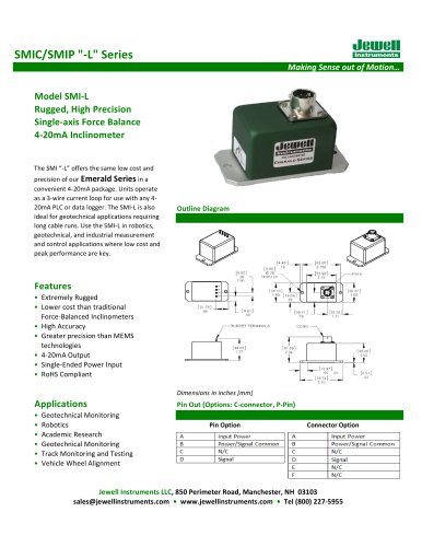 SMI-L Inclinometer Datasheet