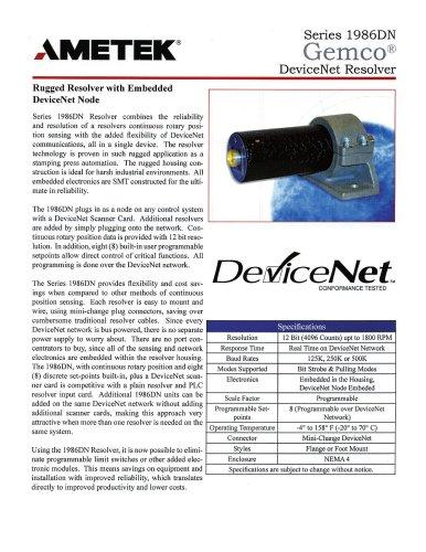 1986DN - DeviceNet Resolver